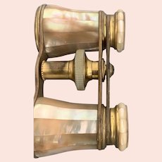 pair French mother of pearl opera glasses