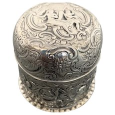 English silver box 1891