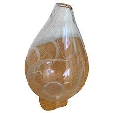 Kosta Vicke Lindstrand Engraved Vase 1955-6