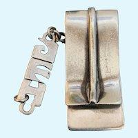 Lenore Doskow silver money clip plus a drop