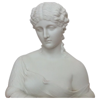 Copeland parian bust of Clytie C. Delpecht Art Union London 1863