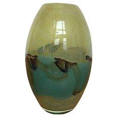 Mdina art glass vase