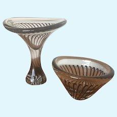 Kosta Vicke Lindstrand Striped vases