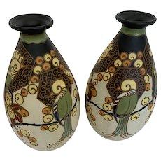 Pair Bach Keramis vases