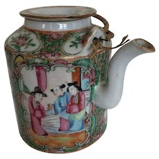 Rose Medallion Tea Pot