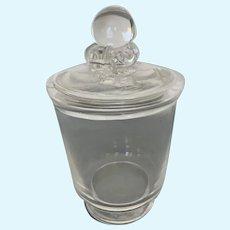 Clear Steuben Covered Vase