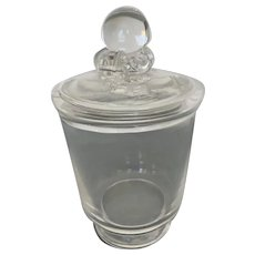 Clear Steuben Covered Vase