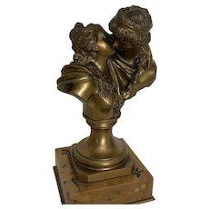 "Jean- Antoine Houdon sculpture ""The Kiss"""