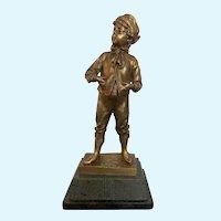 """Max Lindenberg Sculpture of a Boy """"Knabe"""""""