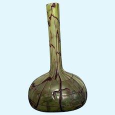 Bohemian Iridescent Glass vase