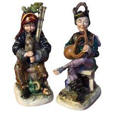2 Capo di Monte seated musicians