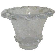 Daum Nancy clear vase