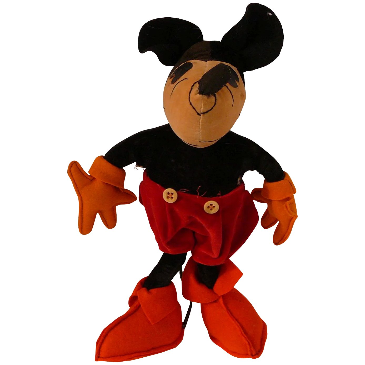 1930 Vintage Mickey Mouse Velvet And