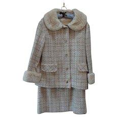 Vintage 1970  Stegari New York Wool Sheared Beaver Suit