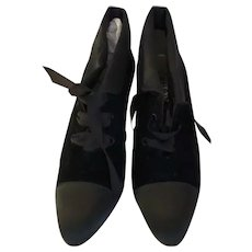 Chanel Velvet Black Booties