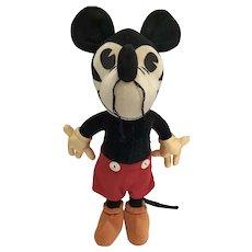 Rare 1930 MINT Charlotte Clark Mickey Mouse Velvet Doll