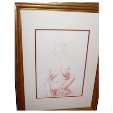 Dennis James Martin Pencil on Paper Drawing
