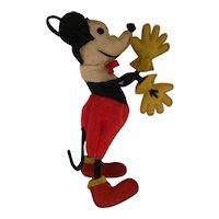 Vintage 1930s Lenci Italian  Felt Mickey Mouse Doll