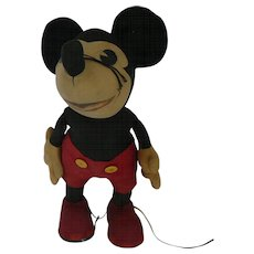 1930s George Borgfeldt Mickey Mouse Doll 18""