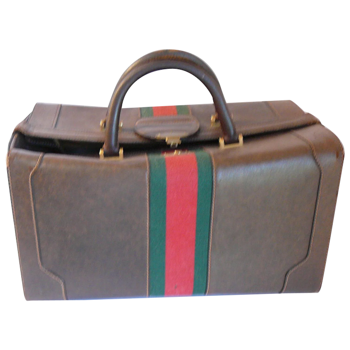eb7add35881 Vintage 1970s Gucci Pigskin Leather LARGE Travel Case   Tiggertiques ...