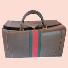 Vintage 1970s Gucci Pigskin Leather LARGE Travel Case