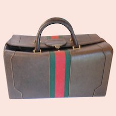 Vintage 1970s Gucci Pigskin Leather LARGE Travel Case