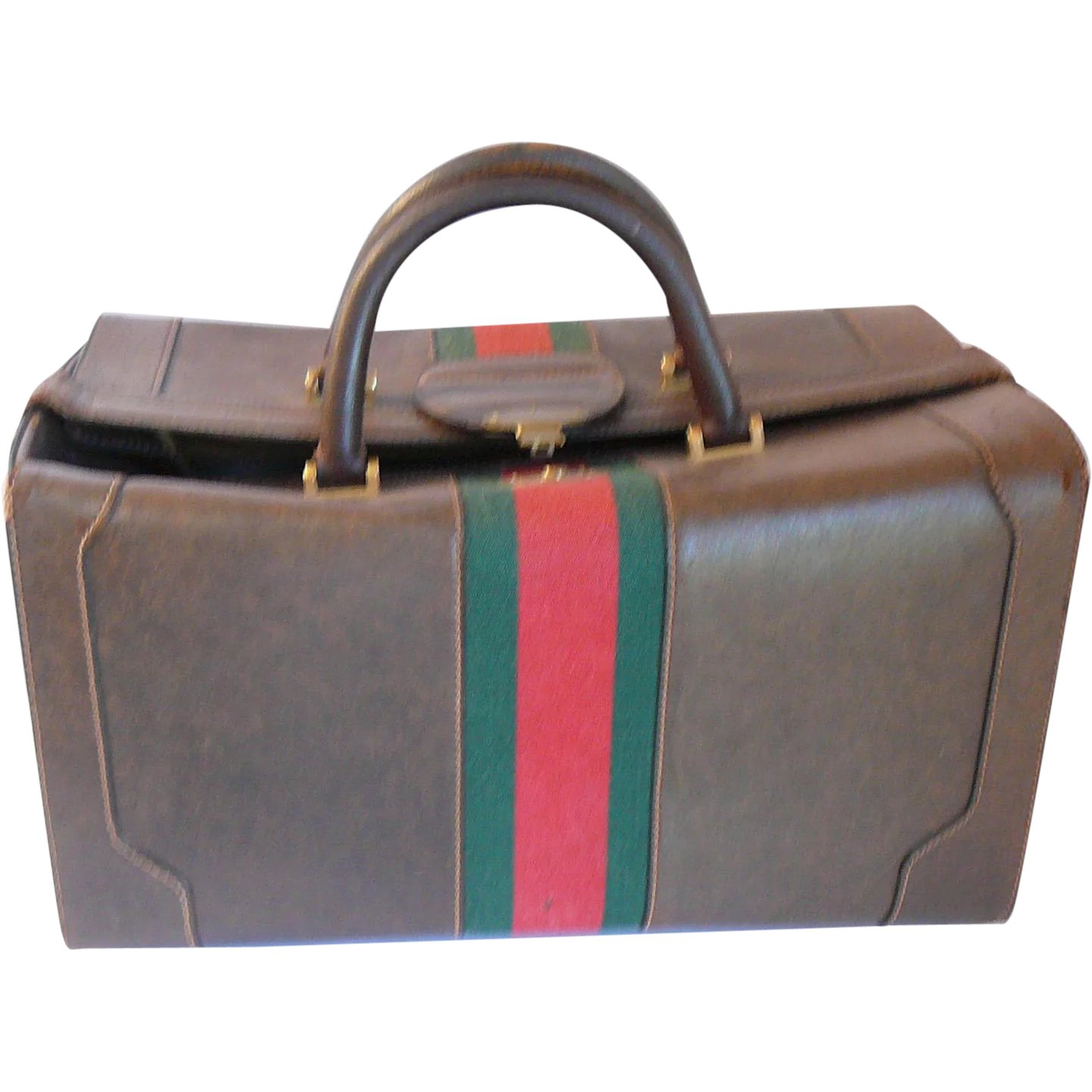 971868fa7 Vintage 1970s Gucci Pigskin Leather LARGE Travel Case : Tiggertiques | Ruby  Lane