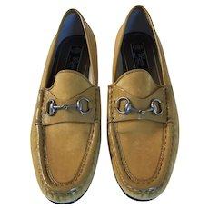 Vintage  Gucci Velvet Loafers
