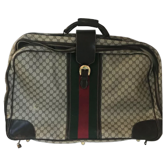 Vintage Gucci Large Web Suitcase