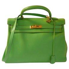 Vintage Hermes Apple Green Swift Kelly Bag GORGEOUS!!