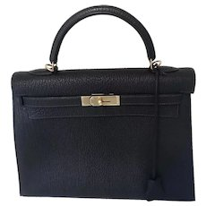 Rare Hermès Chèvre  32 Kelly Bag