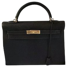 Rare Hermès Chèvre Kelly Bag