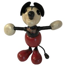 1930 Mickey Mouse Wooden Lollipop Doll