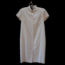 1970s Vintage  Ralph Lauren Silk Dress