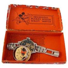 1930 vintage Mickey Mouse Watch w Original Box