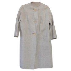 Vintage 1950s Montaldo's Irish Linen Coat