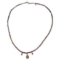 Diamond Sapphire 18k Necklace