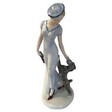 Art Deco  Figure with Scotty Dog