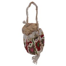 Antique 1900s Edwardian Beaded Bag