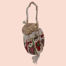 Antique 1900s Edwardian Beaded Bag