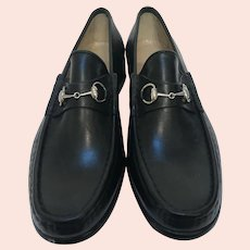 Vintage Gucci Leather Loafers New