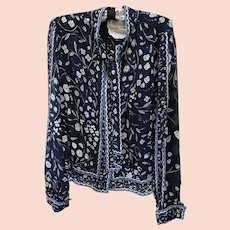 VIntage Emilio Pucci Long Sleeve Silk Blouse