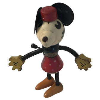 1930 Minnie Mouse Wooden Figure