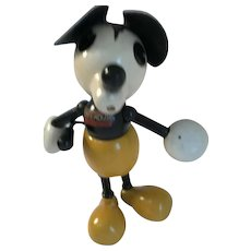 1930 Mickey Mouse Wooden George Borgfeldt Lollipop Doll