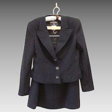 Vintage Chanel Black Cashmere Suite Never worn