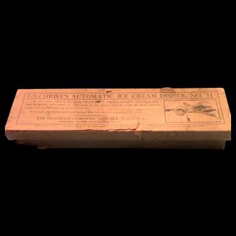 Gilchrist No. 31 Icecream Scoop in Original Box.