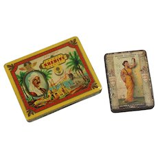 Two Cigarette tins, c. 1920 - 1930