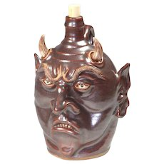 Contemporary Devil Ugly Jug by Karen Labarga