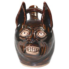Contemporary Jackass Ugly Jug by Karen Labarga