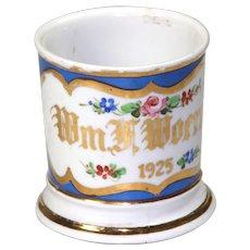 Vintage Floral Shaving Mug - Dated 1925